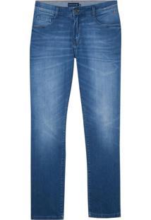 Calça Dudalina Washed Blue Jeans Masculina (Jeans Medio, 46)