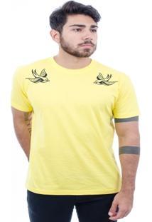 Camiseta Hardivision Andorinhas Manga Curta - Masculino