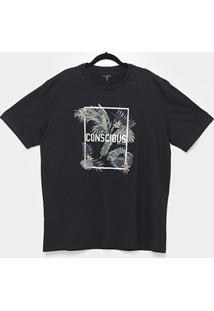 Camiseta All Free Conscious Style Plus Size Masculina - Masculino-Preto