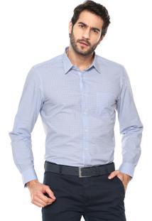 Camisa Richards Xadrez Vichy Azul