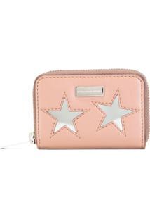 Stella Mccartney Carteira Pequena Com Estrelas - Rosa
