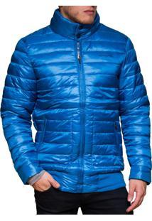 Jaqueta Inverno Kevingston Hardem Impermeavel Azul Metalico Com Bolsos Laterais Inverno Campera