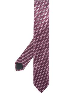 Ermenegildo Zegna Gravata Jacquard De Seda - Pink & Purple