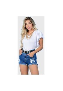 T-Shirt Babado Branco