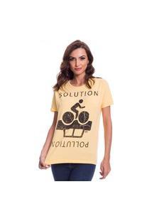 Camiseta Jazz Brasil Solution Amarela