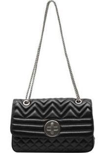 Bolsa Griffazzi Chanel Festa Feminina - Feminino-Preto