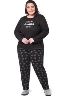 Pijama Plus Size Sonhos De Diamante Feminino Adulto