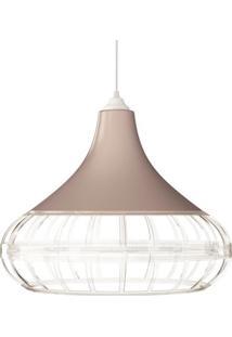 Luminaria Pendente Spirit Combine 1440 Champanhe Transparente Transparente