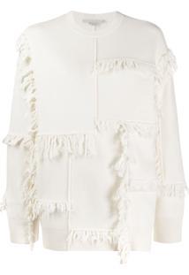 Stella Mccartney Suéter Com Franjas - Branco