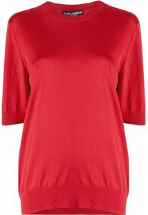 Dolce & Gabbana Blusa De Tricô - Vermelho