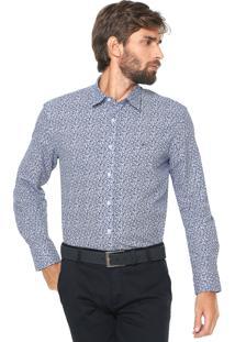 Camisa Aramis Slim Floral Azul