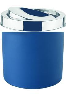 Lixeira Com Tampa 5,4 Litros Azul