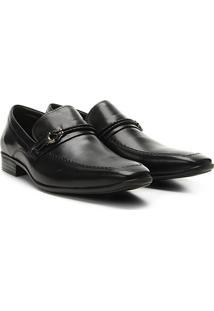 Sapato Social Couro Walkabout Panteão - Masculino-Preto