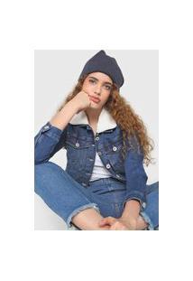 Jaqueta Jeans Malwee Bolsos Azul