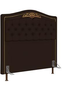 Cabeceira Cama Box Casal Queen 160Cm Imperial J02 Corano Marrom Escuro