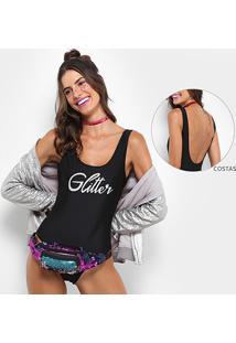 Body Clássico Jkm Glitter - Feminino