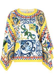 Dolce & Gabbana Blusa Com Estampa 'Majolica' - Amarelo
