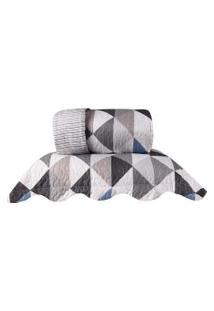 Kit Cobre Leito Ultra Lisse Casal Dupla Face Com Porta Travesseiro Geometric - Bene Casa