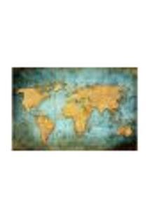 Painel Adesivo De Parede - Mapa Mundi - 701Pnm