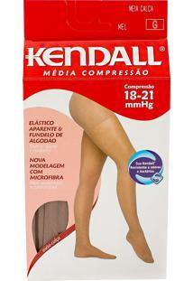 Meia Calça Kendall Feminina Média Compressão (18-21Mmhg) Ponteira Fechada Tamanho G Cor Mel