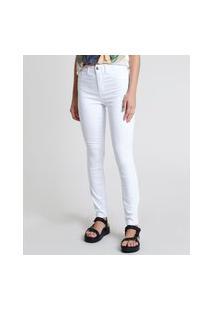 Calça De Sarja Feminina Skinny Energy Jeans Branca
