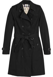 Burberry Trench Coat Com Cinto - Preto