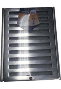 Grelha Com Porta Grelha Reforçada 20X50Cm Tela Escovada Costa Navarro