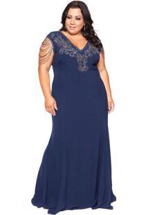 Vestido Almaria Plus Size Pianeta Azul