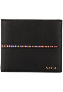 Paul Smith Carteira Com Padronagem De Listras - Preto