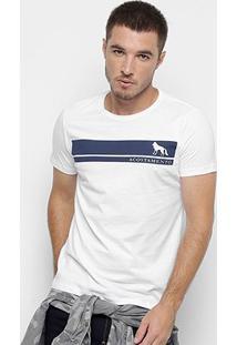 Camiseta Acostamento Bicolor Masculina - Masculino-Branco