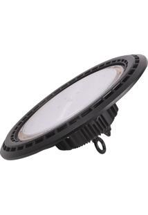 Luminaria Hb Ufo Led 85-265V 100W 6500K Ip65 90° Preta Demi