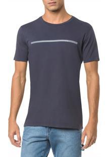Camiseta Ckj Mc Logo Palito - Cinza Azulado - P