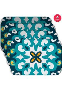 Jogo Americano Love Decor Wevans Mandala Blue Kit Com 4 Pçs