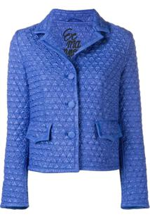 Ermanno Scervino Fitted Silhouette Jacket - Azul