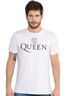 Camiseta Masculina Queen Logo - Masculino-Branco