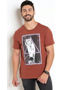 Camiseta Com Estampa Tigre E Neon