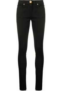 Versace Calça Jeans Skinny Com Stretch - Preto