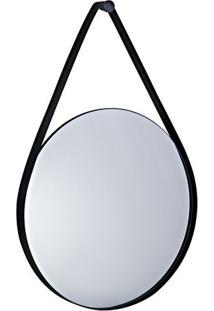Espelho Redondo- Espelhado & Preto- 91X60X5Cm- Mmart