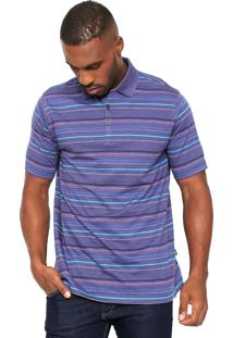 Camisa Polo Perry Ellis Reta Multicolorida