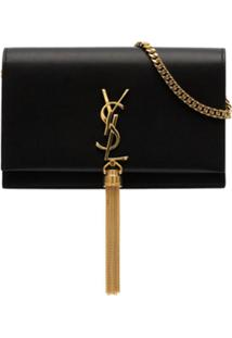 Saint Laurent Bolsa Tiracolo Kate Pequena - Preto