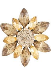 Broche Armazem Rr Bijoux Flor Cristal
