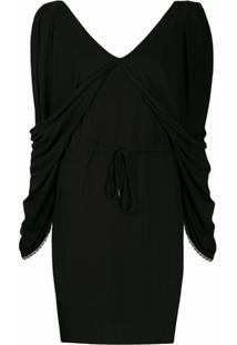 See By Chloé Vestido De Jersey Com Decote Em V - Preto