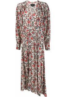 Isabel Marant Vestido Longo Com Estampa Floral - Neutro