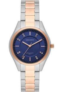 Relógio Feminino Orient Analógico Ftss0055 - Unissex-Prata