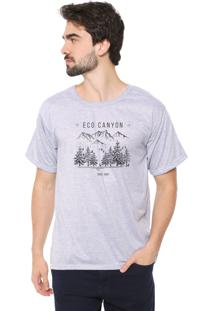 Camiseta Eco Canyon Draw Camp Cinza