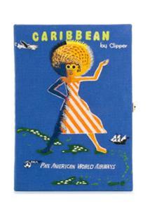 Olympia Le-Tan Clutch Voyage Caribbean - Azul