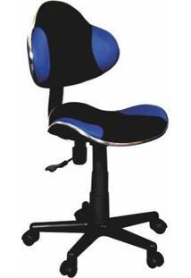 Cadeira Para Escritório Anatômica - Preta/Azul - Bulk