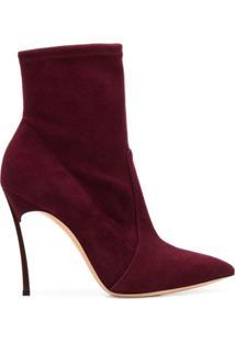 Casadei Ankle Boot 'Blade' - Vermelho