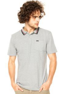 Camisa Polo Volcom Corporate Cinza