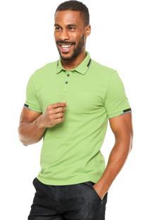 Camisa Polo Calvin Klein Jeans Relevo Verde